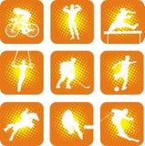 sportar 1 vektor illustrationer