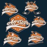 sportar alla stjärnavapen royaltyfri illustrationer