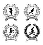 sportar för 1 emblems Arkivbild