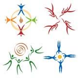 sportar för samkväm för nätverk för gemenskapkamratskapsymboler Royaltyfria Bilder