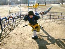 Sportar och barn Arkivfoton