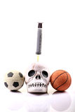 Sportar och droger Fotografering för Bildbyråer