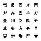 Sportar och lekvektorsymboler 3 royaltyfri illustrationer