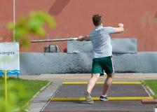 Sportar spelar städer Royaltyfria Foton