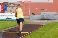 Sportar spelar städer Fotografering för Bildbyråer