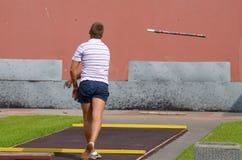 Sportar spelar städer Royaltyfria Bilder