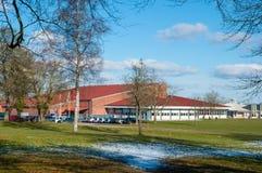 Sportarna som är hal i stad av Hoeng i Danmark Royaltyfri Bild