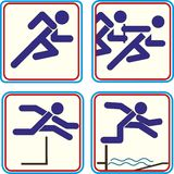 Sportathlet Pictogram Icon Track - Feld Lizenzfreie Stockfotos