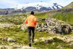 Sportatleet die - sleepagent het lopen uitoefenen stock afbeeldingen