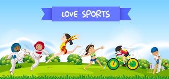 Sportatleten in aard royalty-vrije illustratie
