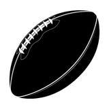 Sportausrüstung 3D übertragen Illustration Ball des amerikanischen Fußballs lokalisiert auf einem weißen Hintergrund Sport Spiel Stockfoto