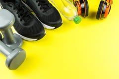Sportausrüstung für Eignung stockfoto