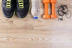 Sportausrüstung Fettes Verlustkonzept lizenzfreie stockbilder