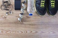 Sportausrüstung Fettes Verlustkonzept stockbild