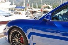 Sportautoseite Stockbild