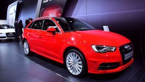 A3 Sportback e-tron plug-in hybrid car stock video footage