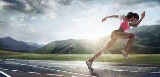 Sportbakgrunder löpare Arkivfoton