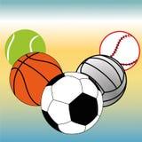 Sportballen stock illustratie
