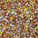 Sportballen op de vloer Stock Foto's