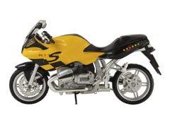 Sportbike amarelo do brinquedo Fotografia de Stock Royalty Free