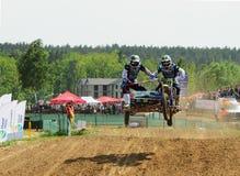 Sportbike enduro sidecar motocross wiecu bie?na rywalizacja zdjęcia royalty free