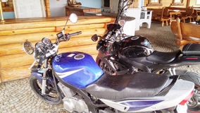 Sportbike för två motorcyklar Royaltyfri Fotografi