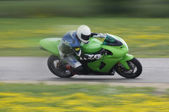 Sportbike Motorcycle Racer Royalty Free Stock Photo