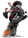 Sportbike-Motorradvektor-Karikaturillustration stockbild