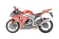 Sportbike potente isolato Fotografia Stock
