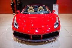 Sportbil för Ferrari 488 spindelsportbil Arkivbild