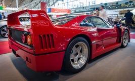 Sportbil Ferrari F40, 1989 Arkivfoto