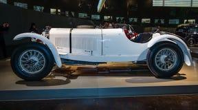 Sportbil Mercedes-Benz 27/170/225 SSK PS (Toppen-sporten-Kurz (DE) - den toppna sportkortslutningen (EN)), 1928 Royaltyfria Bilder