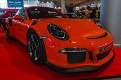 Sportbil Porsche 991/911 GT3 RS, 2017 Fotografering för Bildbyråer