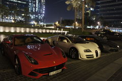 Sportbilar i Dubai Fotografering för Bildbyråer