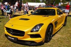 Sportbilar Mercedes AMG arkivfoto