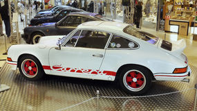 Sportbilar Porsche medel, muskelhjul Royaltyfri Fotografi