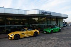 Sportbilen Mercedes-AMG GT royaltyfri fotografi