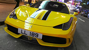 SportbilFerrari 458 spindel Arkivbilder