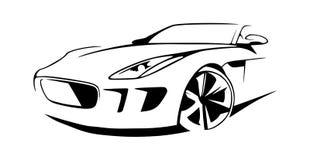 Sportbilkonturvektor royaltyfri illustrationer