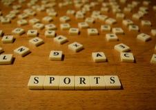 Sportbokstäver Arkivbilder