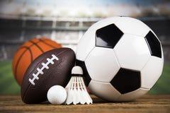 Sportbollar med utrustning Arkivfoton