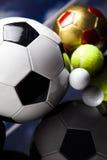 Sportbollar med utrustning Fotografering för Bildbyråer