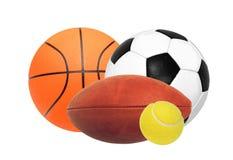 Sportbollar som isoleras på vit Royaltyfri Bild