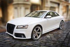 sportcar白色 免版税库存图片