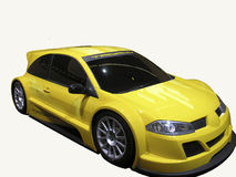 Sportcar. Yellow sportcar Stock Images