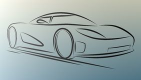 Sportcar. Abstract  sportcar lines on white background. eps10 Royalty Free Stock Images