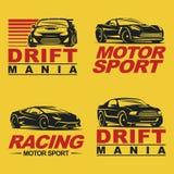 Sportcar set retro Stock Image