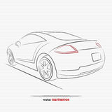 Sportcar. Silhouette of sport car for your design Stock Photo