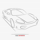 Sportcar. Silhouette of sport car for your design Royalty Free Stock Photos