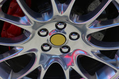Sportcar wheel. Original photo from maranello modena italy royalty free stock image